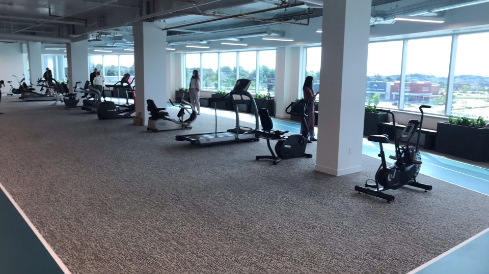 Exercise area at St. Mary's