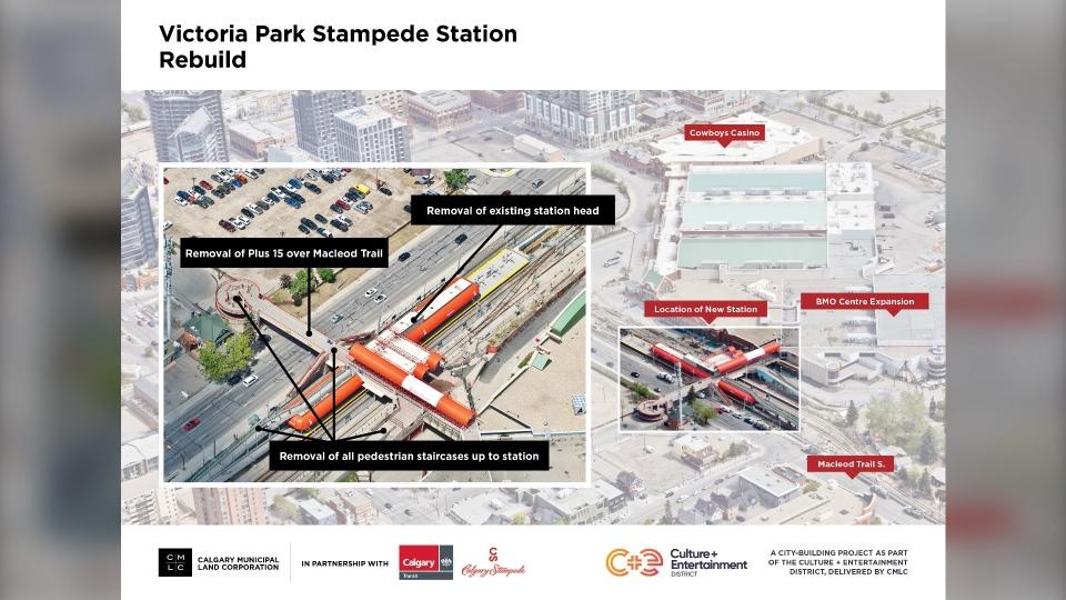 Victoria Park Stampede LRT rendering Calgary