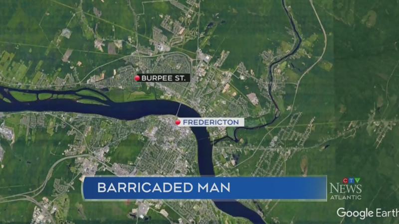 Fredericton man barricades himself