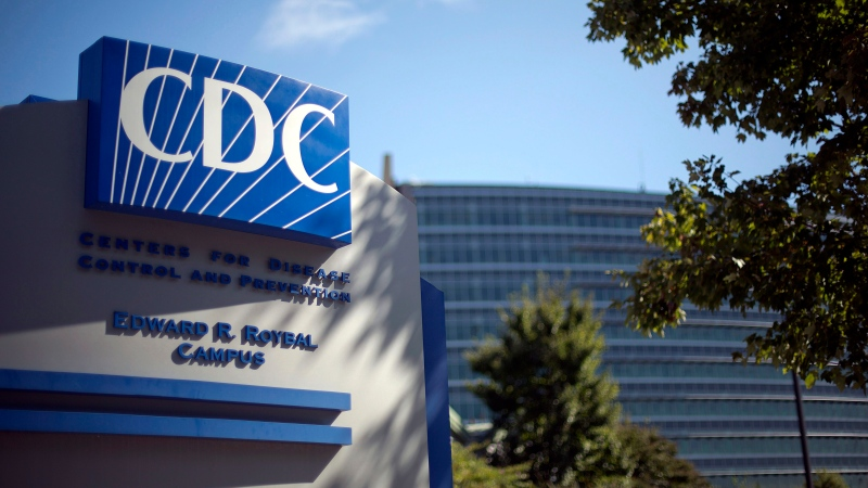 In this Oct. 8, 2013, file photo, a sign marks the entrance to the federal U.S. Centers for Disease Control and Prevention (CDC) in Atlanta. (AP Photo/David Goldman, File)