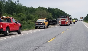 Both lanes of Highway 69 in Carling township have reopened, police said early Thursday evening. (Supplied)
