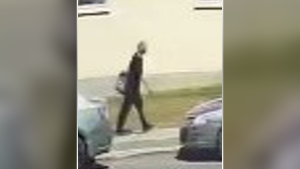 Police are searching for a suspect they say tried to stab a woman last month near Woodroffe and Byron avenues. (Ottawa Police handout)