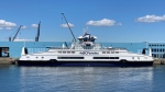 BC Ferries third hybrid-electric vessel is seen docked at Ogden Point in Victoria: July 22, 2021 (CTV News)