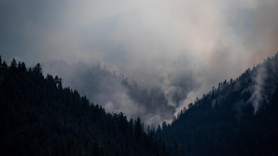 Wildfire near Lytton