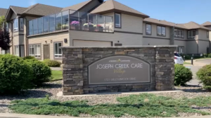 The exterior of Joseph Creek Care Village in Cranbrook is shown.