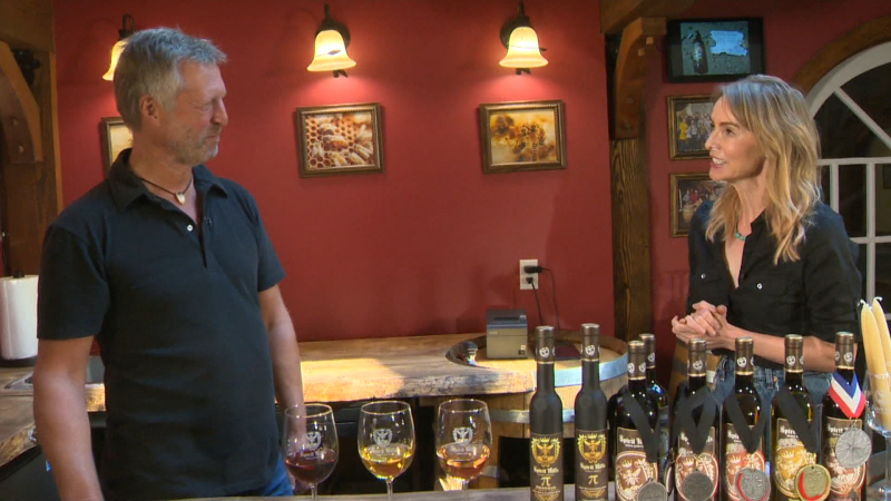 Our Travel Alberta Cowboy Trail tour includes a stop at the Spirit Hills Winery in Millarville