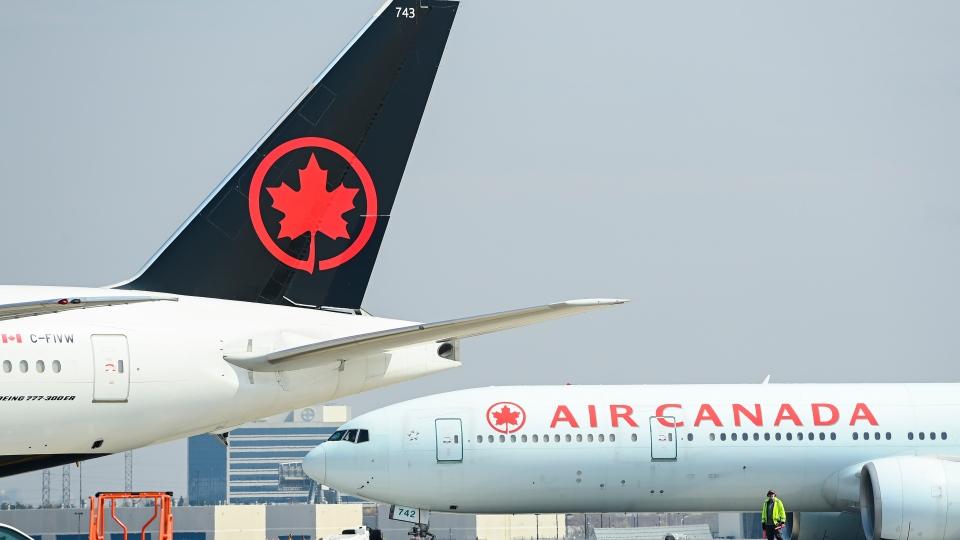 Air Canada planes at Pearson