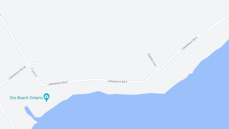 A home on Lakeshore Road East in Oro-Medonte was destroyed by fire in the early morning hours of Fri., July 23. 2021. (GOOGLE MAPS)
