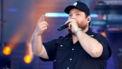 Luke Combs performs at the CMT Music Awards in Nashville, Tenn., on May 13, 2021. (Mark Humphrey / AP)