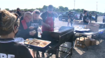 The Greater Sudbury Landlord Association hosted a barbecue for those in need at the Elgin Street Mission. July 22/21 (Molly Frommer/CTV Northern Ontario)