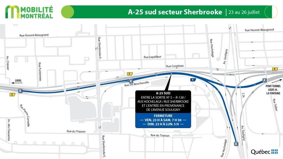 Highway 25 closures July 23-26