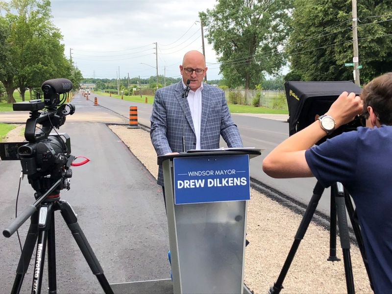 New cycling trail on Matchette Rd. complete, Windsor, Ont. (Gary Archibald, CTV Windsor)