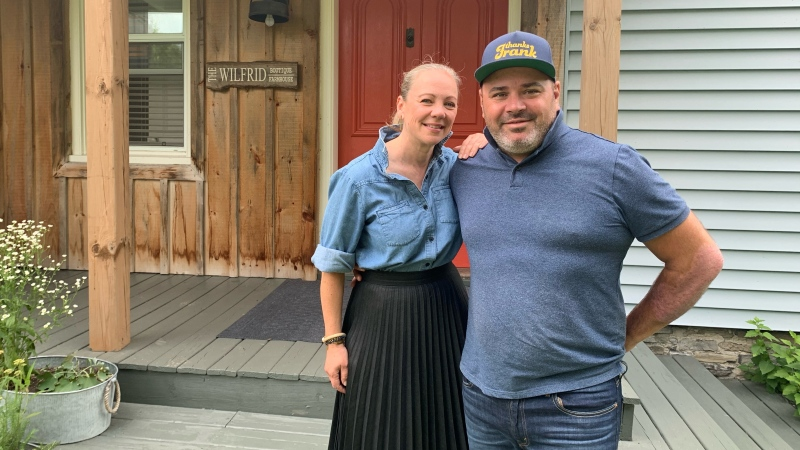 Wilfrid Boutique owners Nancy Pavan and Frank Ellefsen say they have seen more bookings since being given the green light to welcome visitors again. (Kimberley Johnson/CTV News Ottawa)
