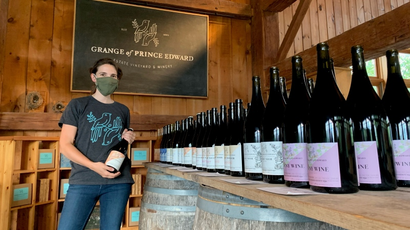 """Grange of Prince Edward president Maggie Granger says business has been """"the right kind of busy"""" during Step 3. (Kimberley Johnson/CTV News Ottawa)"""