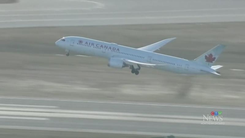 Air Canada plane takes off
