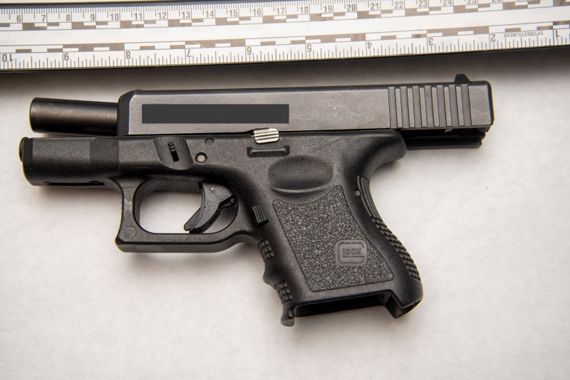 A 30-year-old man and 34-year-old woman are facing charges of weapons offences after police stopped a vehicle in Halifax on Thursday. (Photo via Halifax Regional Police)