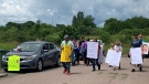 A car rally and march took place Friday afternoon in Truro, N.S., organized by the father of the three-year-old Dylan Ehler, who went missing in the area May 6, 2020.