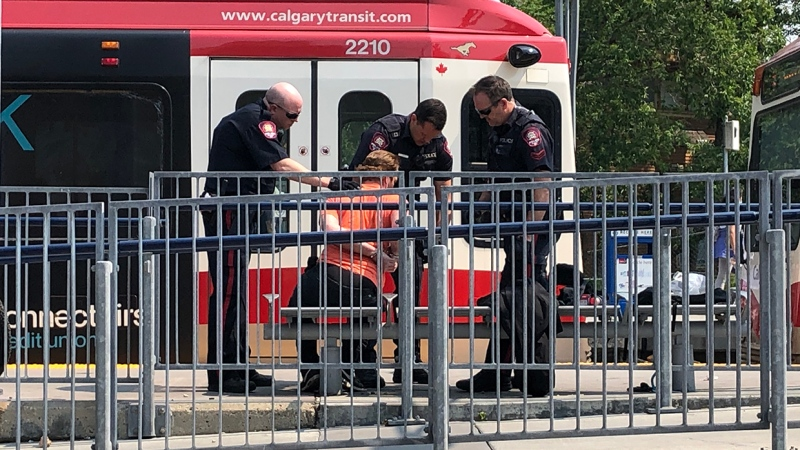 A man was taken into custody by Calgary police Friday after they received reports of a man with a gun on the CTrain. Police determined that the man possessed a replica gun