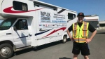 Having experienced the devastating effects of lung disease within his own family, an Edmonton man has walked a hefty distance to raise funds for research.
