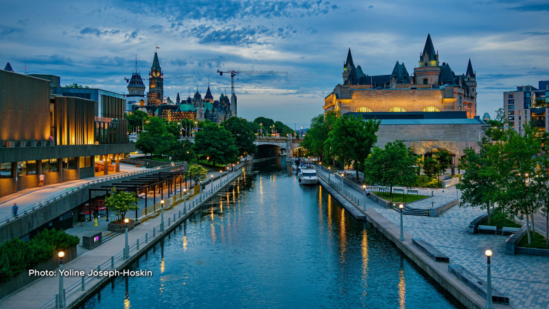 Blue Hour on Rideau Canal. (Yoline Joseph-Hoskin/CTV Viewer)