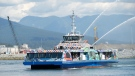 An image provided by TransLink shows the new SeaBus, named the Burrard Chinook.
