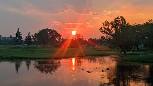 Morning sunrise at Glendale golf course. Photo by Jason Dreolini.