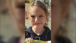 According to a police statement, Teaghan Coutts, 7, was allegedly taken out of Canada against her biological father's wishes by her maternal grandparents. The three are believed to be in the Middle East. (Supplied)