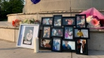 A vigil in Vitoria Park to honour a teen who died of a drug overdose. (Krista Sharpe/CTV Kitchener)