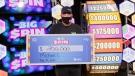 Alberta Beach, Alta's Michael Casselman took home $200,000 following his turn on the big wheel. (Supplied)