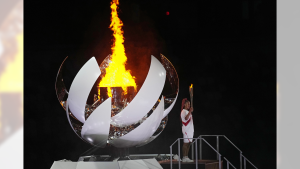 The opening ceremony in the Olympic Stadium at the 2020 Summer Olympics, Friday, July 23, 2021, in Tokyo, Japan (Source: Canadian Press)