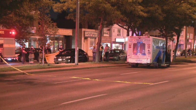 Police are investigating after a pedestrian was fatally struck by a car in Scarborough.