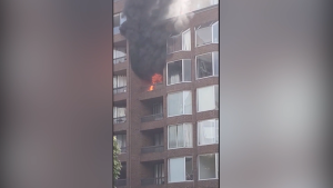 Man falls to his death fleeing fire