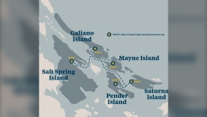 A map of the AquaLink water taxi route is seen in this image from the project's Facebook page.