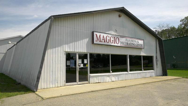 Maggio Flooring on Highway 29, north of Brockville, Ont. (Nate Vandermeer / CTV News Ottawa)