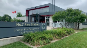No 7 Fire Station in London, Ont. down to 1 Fire Truck with pumper truck out of service and no replacement available (Brent Lale / CTV News)