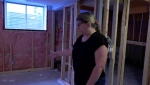 Tracey Tell says the basement of her Okotoks, Alta. home, which she rents out on Airbnb, was damaged in an unfortunate incident involving her last guest, who died during his stay.