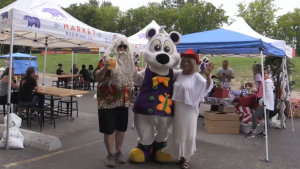 Non-profit organization Abuse Hurts held a Christmas-themed fundraising event for abuse survivors on Saturday, July 24 (Dave Sullivan/CTV News)