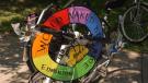 Naked bicycle ride