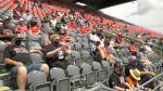 Fans return to the stands at TD Place for the Ottawa Redblacks scrimmage on Saturday. (Jackie Perez/CTV News Ottawa)