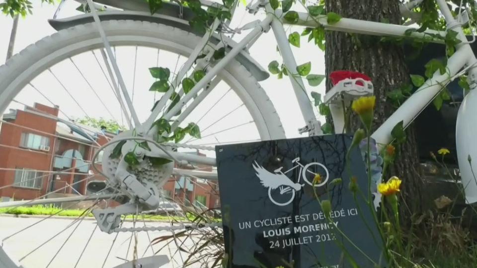 Ghost bike honours killed Montreal cyclist