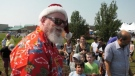 A visit from Santa Claus delighted children and families at the Bearspaw Community Farmers' Market on Saturday.