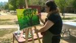 Central Park transformed into art studio