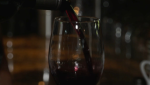 A glass of wine being poured at La Piazza Dario Ristorante in Vancouver in July 2021. (CTV)