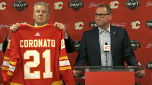The Calgary Flames drafted eight players in the 2021 NHL draft. (Source: ESPN)