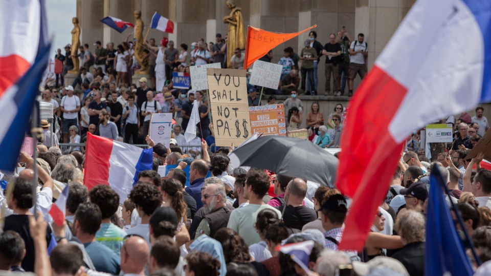 France anti-vaccine pass protests
