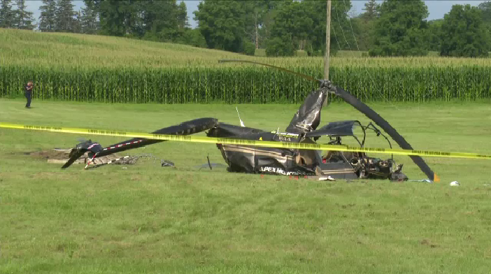 A helicopter crash near in Brantford has caused a number of rural roads to be closed off. (Source: David Ritchie) (July 25, 2021)