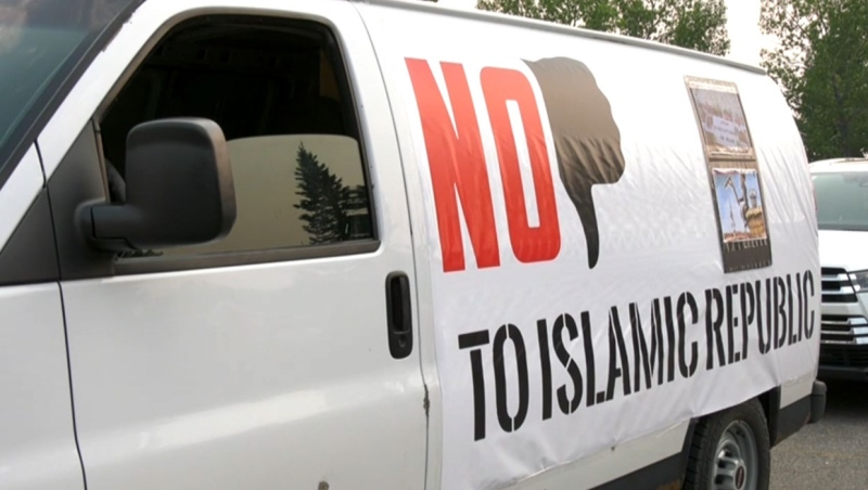 calgary, iran, protest, convoy