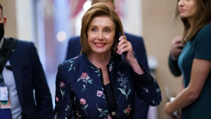 Speaker of the House Nancy Pelosi, D-Calif., returns to her office where members of the House select committee on the January 6th attack on the Capitol are preparing for the start of hearings next week, at the Capitol in Washington, Thursday, July 22, 2021. (AP Photo/J. Scott Applewhite)