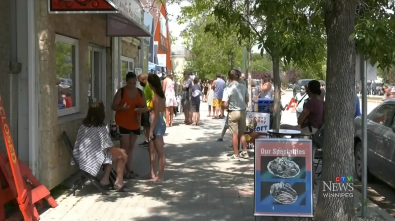 Lynn Greenburg, the mayor of the RM of Gimli, said he's noticed an uptick in tourism in the municipality this summer. (Source: Mike Arsenault/ CTV News Winnipeg)
