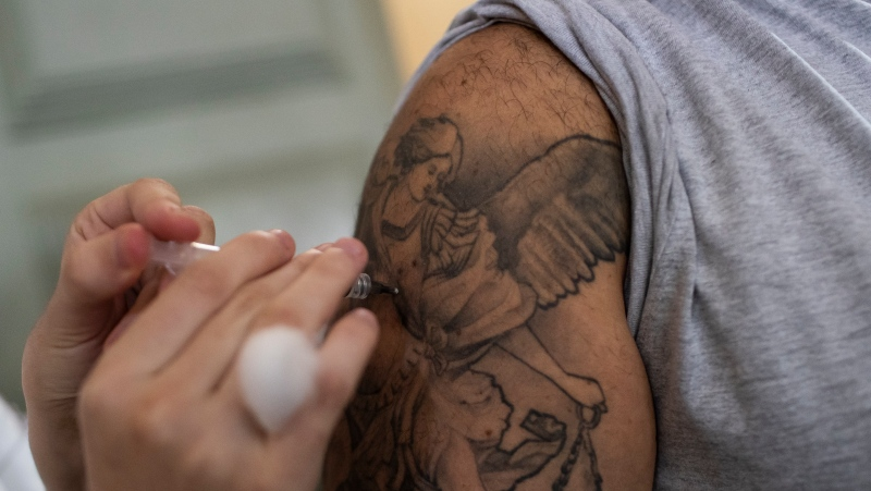More than 64 per cent of New Brunswickers are fully vaccinated as of Sunday. (AP Photo/Bruna Prado)